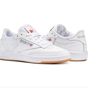 NEW White leather Reebok club C 85 sneaker